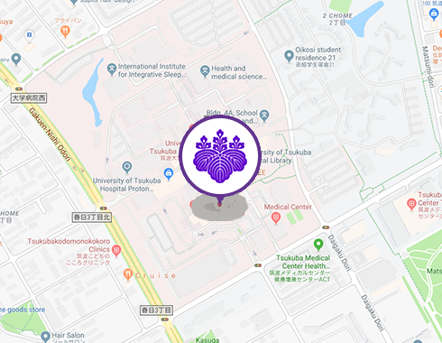 University of Tsukuba Hospital map