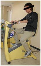 写真2:エルゴメーターによる運動療法
